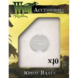 Clear 30mm Translucent Bases - 10 Pack