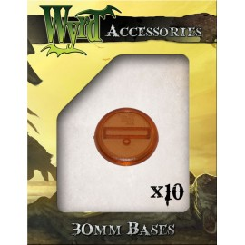 Rootbeer 30mm Translucent Bases - 10 Pack