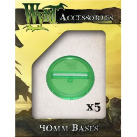 Green Translucent Bases – 40mm
