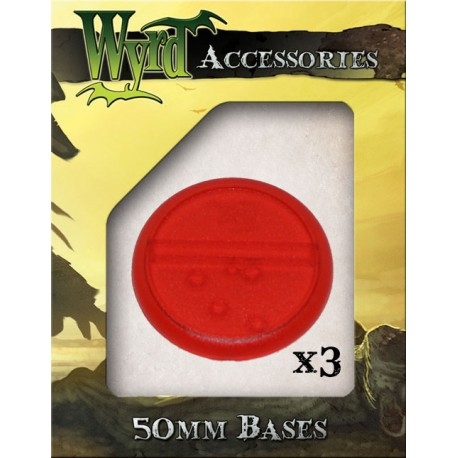 Red Translucent Bases – 50mm