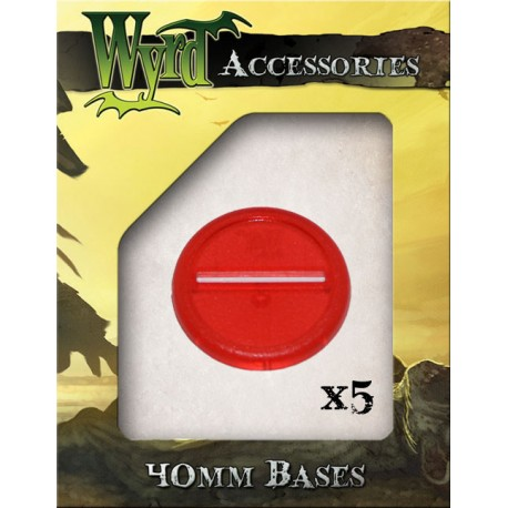 Red Translucent Bases – 40mm