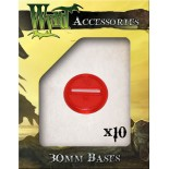 Red 30mm Translucent Bases - 10 Pack