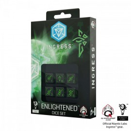 Ingress 6D6 Dice Set: Enlightened