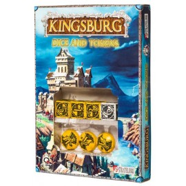 Yellow & black Kingsburg Dice and Tokens Set