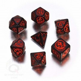 Black & Red Dragons Dice (7)