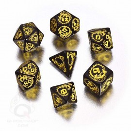 Black & Yellow Dragons Dice (7)