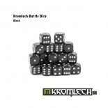 Battle Dice 35x Black 12mm