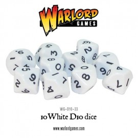 D10 Dice Pack - White
