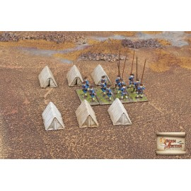 Western style military tents small