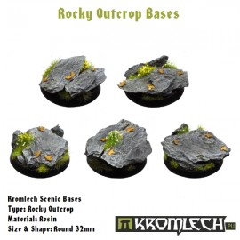 Rocky Outcrop Bases - Round 32mm