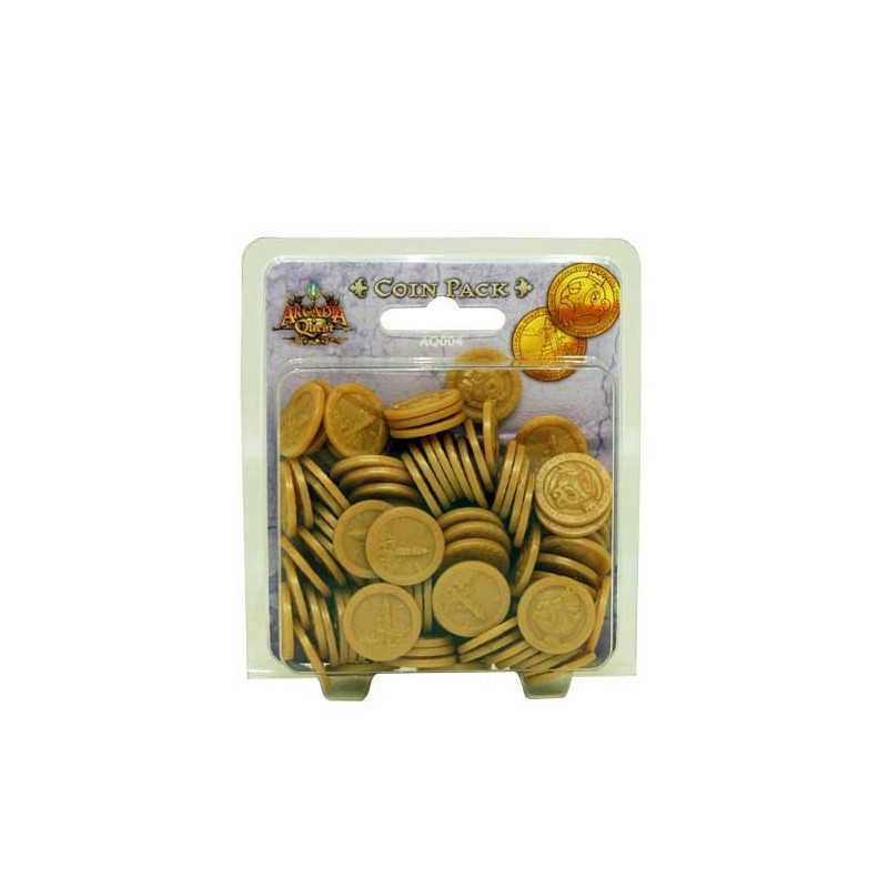 Arcadia Quest Metal Coins - Board Games - Home - Wayland Games