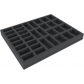FSBR035BO 35 mm (1.38 Inch) foam tray with different sized slot foam with base - full-size