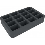 50mm (2 inches) half-size Figure Foam Tray with 16 slots for Flames of War Medium Bases