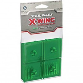 Star Wars X-Wing Green Coloured Bases and Pegs