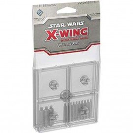 Star Wars X-Wing Clear Coloured Bases and Pegs