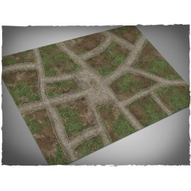 4ft X 6ft, Cobblestone Streets Theme Cloth Games Mat