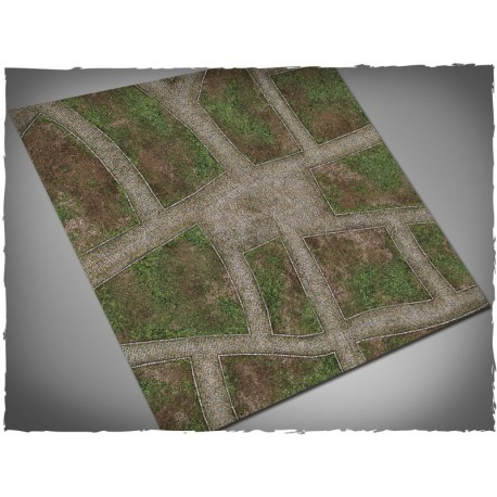4ft x 4ft, Cobblestone Streets Theme Mousepad Games Mat