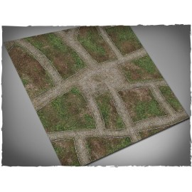 4ft x 4ft, Cobblestone Streets Theme Cloth Games Mat