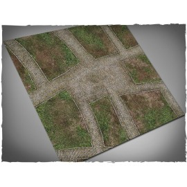 3ft x 3ft, Cobblestone Streets Theme Cloth Games Mat