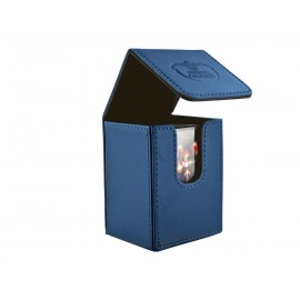 Flip Deck Case 80+ Standard Size Leatherette - Dark Blue