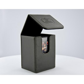 Flip Deck Case 80+ Standard Size Leatherette - Black