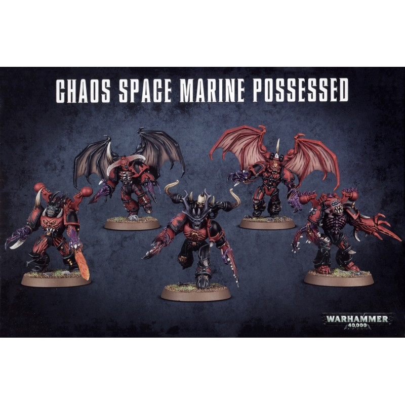 40K Chaos Space Marines Possessed Squad Winged Backpack