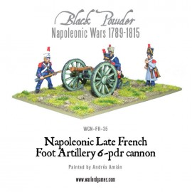 French Napoleonic 6 pounder Foot Artillery
