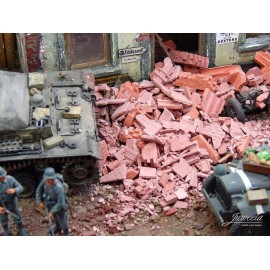 Brick Rubble, Mixed, Red (200g)