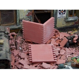 Wall Sections & Loose Bricks, Red (6 pcs)