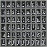 35 mm (1.4 inches) foam tray with 54 slots for Zombicide boadgame boxes