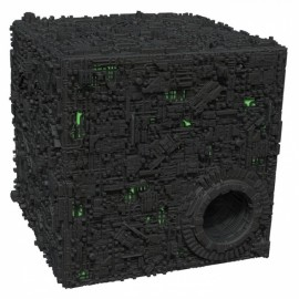 Borg Cube with Sphere Port Figure