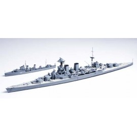 British Battle Cruiser Hood & E Class Destroyer