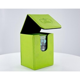 Flip Deck Case 80+ Standard Size Leatherette - Green
