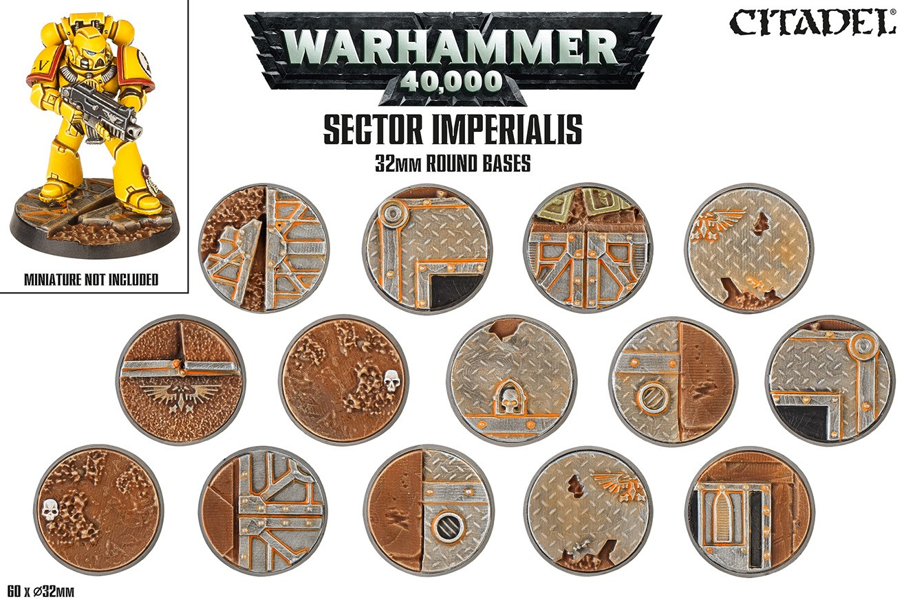 Sector Imperialis - 32mm Round Bases - Citadel Bases - Bases