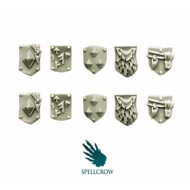 Small Shields for Wolves Space Knights in Heavy Armour