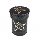 Call of Cthulhu Black & green-golden Leather Dice Cup