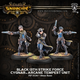 Black 13th Strike Force Cygnar Arcane Tempest Unit