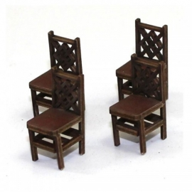 Square Back (A) Chair - Medium Wood