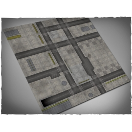 4ft x 4ft, Cityscape 1 Theme Mousepad Game Mat
