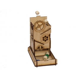 e-Raptor Dice Tower Steam Punk Box