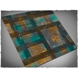 4ft x 4ft, Night Cityscape Theme Mousepad Game Mat