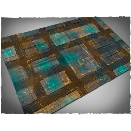 4ft x 6ft, Night Cityscape Theme PVC Game Mat