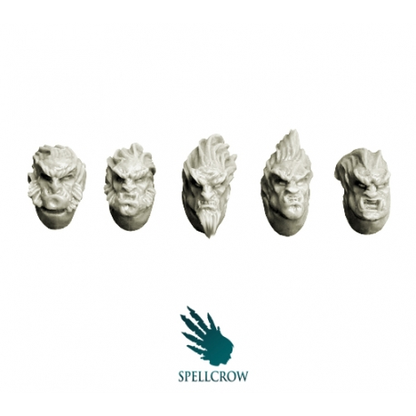 Feral Wolves Space Knights Heads