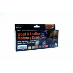 Model Color Set - Wood and Leather (x8)