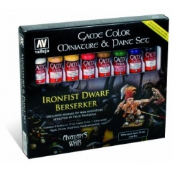 Game Color Set - Ironfist Dwarf Berserker Set (8 Colors, Figure & Brush)