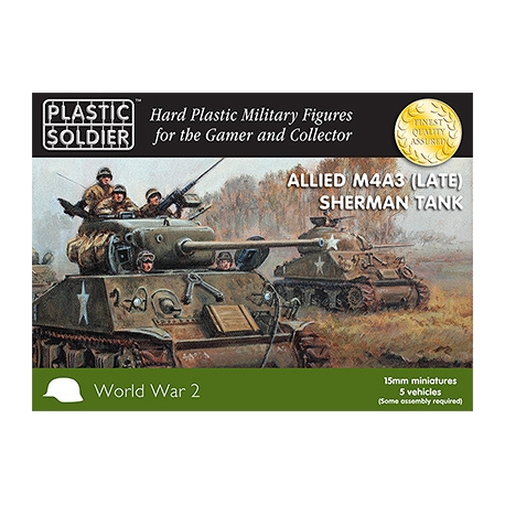 15mm Easy Assembly Sherman M4A3 (Late) Tank