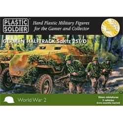 15mm Easy Assembly German Sdkfz 251 Ausf D Half track