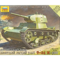 1/100th (15mm) Russian T26 tank