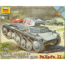 1/100th (15mm) German Panzer II tank