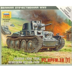1/100th (15mm) German Panzer 38T tank